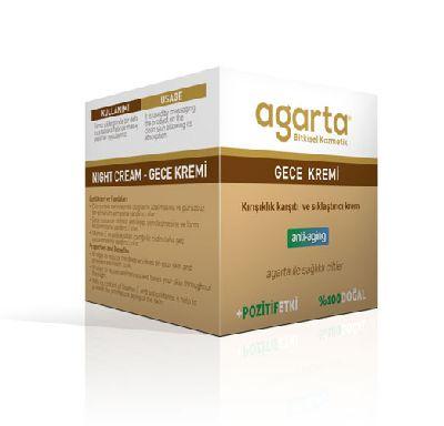 Agarta 100%-й натуральный омолаживающий ночной крем для лица для восстановительного лечения
