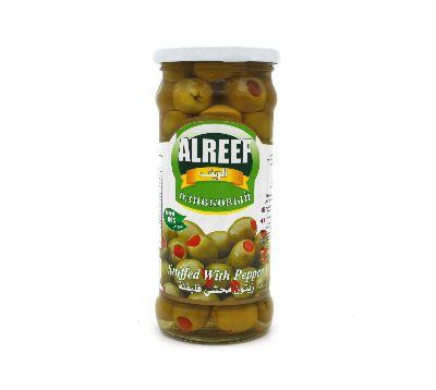 Оливки зеленые Al Reef с перцем 360 гр