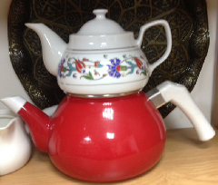 Чайник с фарфоровым заварником