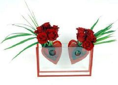 11 роз: 2 сердца в унисон