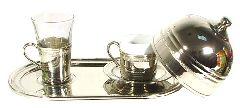 Никелированный набор для турецкого кофе
