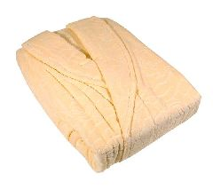 Банный махровый халат (персиковый)
