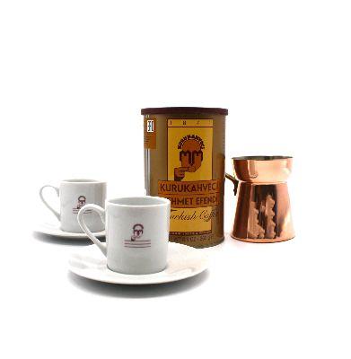 Набор кофейный Mehmetefendi - кофе, чашечки+турка медная