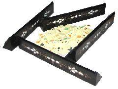 Набор для игры Окей (Okey) подарочный (деревянные подставки с перламутром)