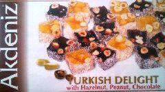 турецкий лукум с арахисом фисташками и кокосом