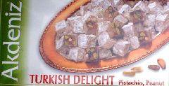 турецкий лукум с арахисом и фисташками