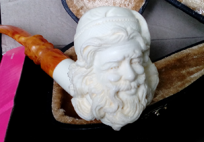 """Курительная трубка из морской пенки """"Дед Мороз"""""""