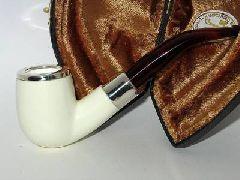 Пенковая трубка с серебрянной окантовкой