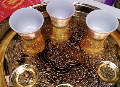 Поднос арабский для сервировки кофе