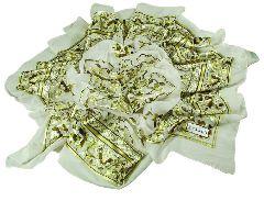 Платок от VAKKO (зеленые цветы)