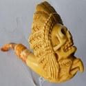 Пенковая курительная трубка Череп Индейца
