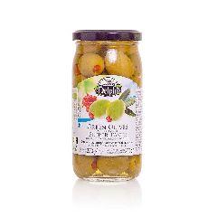 Оливки фаршированные пастой из перца в рассоле DELPHI 350г