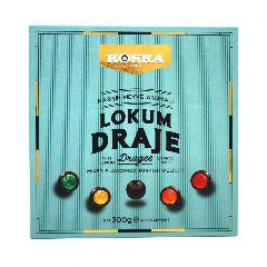 Мини-лукум ассорти вкусов в темном шоколаде Koska 300 г