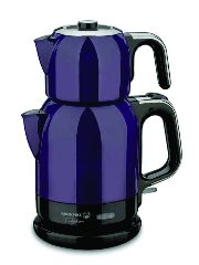 Электрический двойной чайник Caytema 1,1 л, и 1,7 л (фиолетовый)