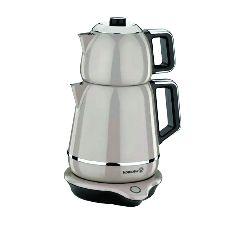 Электрический двойной чайник Korkmaz Demiks Бежевый