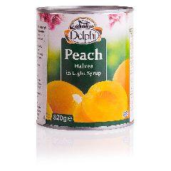 Персики половинки в сиропе Delphi 820г