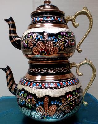 Турецкий чайник двойной цветной