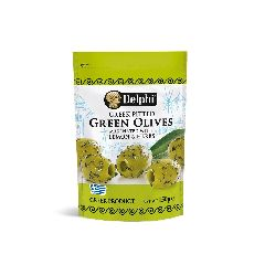 Оливки без косточки, маринованные с лимоном и травами, DELPHI 150г