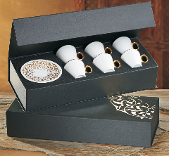 Фарфоровый кофейный набор на 6 персон