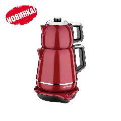 Электрический двойной чайник Korkmaz Demiks Красный