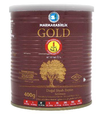 Маслины черные GOLD в рассоле 400 гр