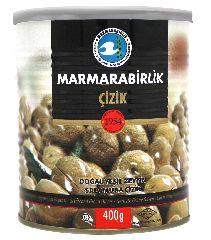 Оливки зеленые надрезанные (kirma zeytin) 400 гр