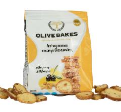 Сухарики пшеничные с оливками и куркумой OLIVE BAKES 80г