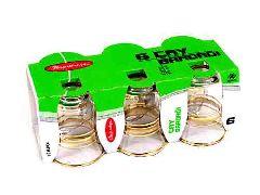 Стаканчики чайные турецкие (с золотым ободком) 6 шт