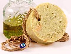 Оливковое мыло с ядрами фисташек