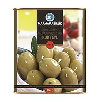 Оливки зеленые Kokteyl консервная банка 10 кг